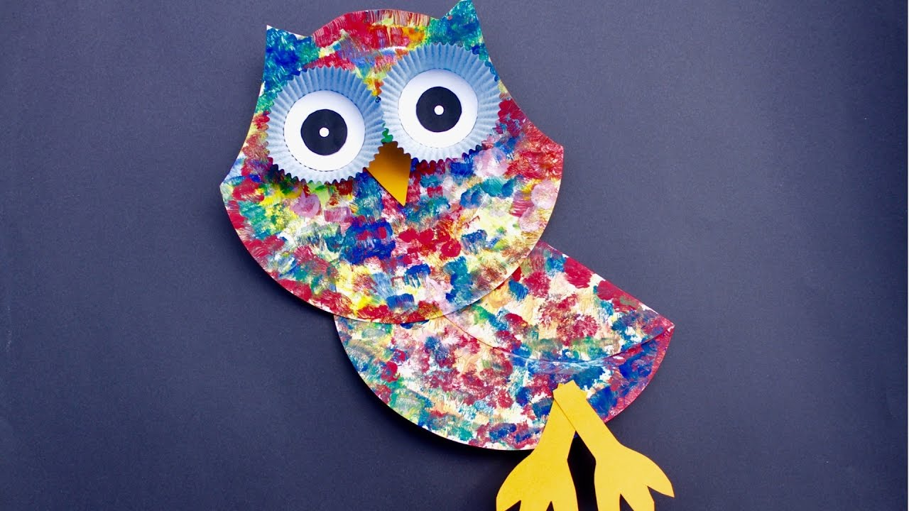 Paper Plate Owl (Stop Motion) & Paper Plate Owl (Stop Motion) - YouTube