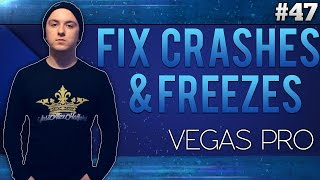 Sony Vegas Pro 13: How To Fix All Crashes & Freezes - Tutorial #47
