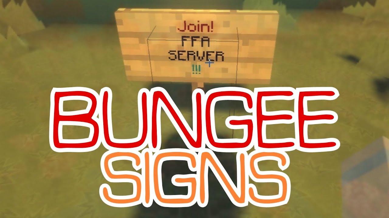 BungeeSigns BungeeCord Plugin Server Teleport Sign - Minecraft offline spieler teleportieren