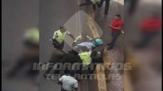 Enfrentamiento entre agentes de Amet y un conductor en la Churchill