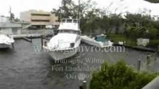 Yachts crashing hurricane Wilma Part 6 of 8