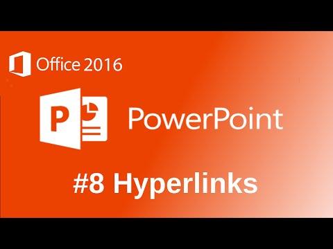 Microsoft PowerPoint 2016 Hyperlinks Tutorial