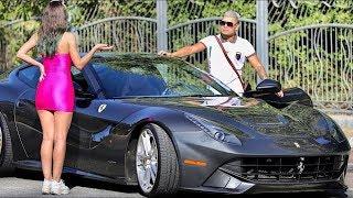 See What She Did when She Saw He has a Ferrari F12 Berlinetta!