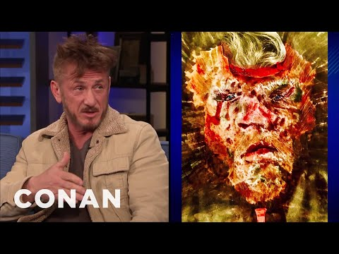 Cover Lagu Is There A Familiar Face In Sean Penn's Painting? - CONAN on TBS stafamp3
