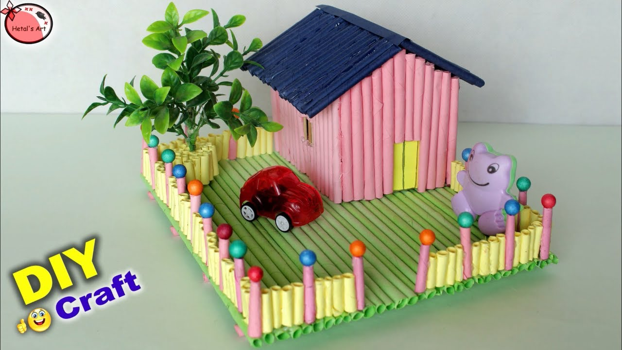 Amazing Mini Craft House Making House Craft For Kids Diy