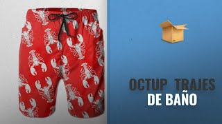 Productos 2018, Los 10 Mejores Octup: OCTUP Cartoon Red Lobster Quick-Dry Beach Surf Swim Trunks
