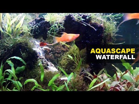 aquascape-waterfall-cliff-|-underwater-waterfall-decoration