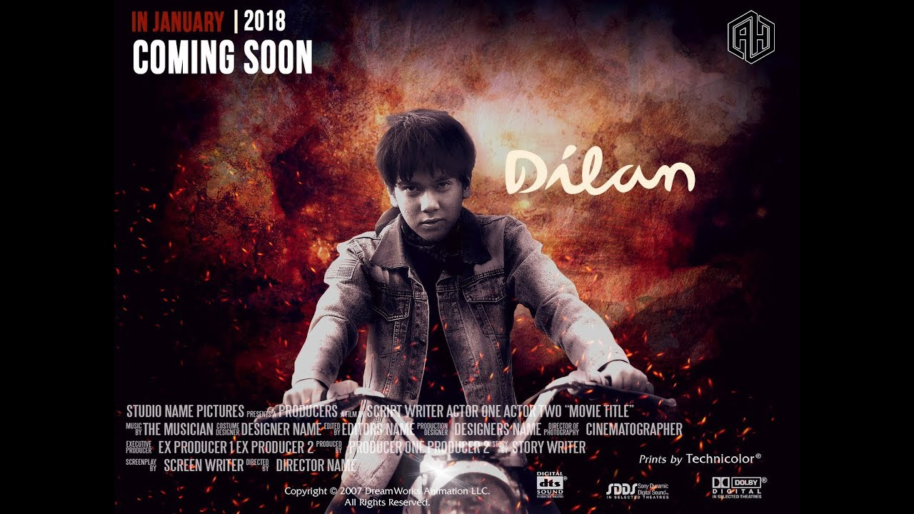 Tutorial Membuat Poster Film Dilan 1990 Free Download Font