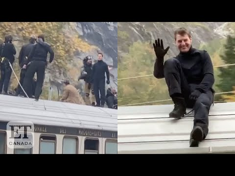 Tom Cruise Rides On Top Of Train for 'Mission: Impossible 7'