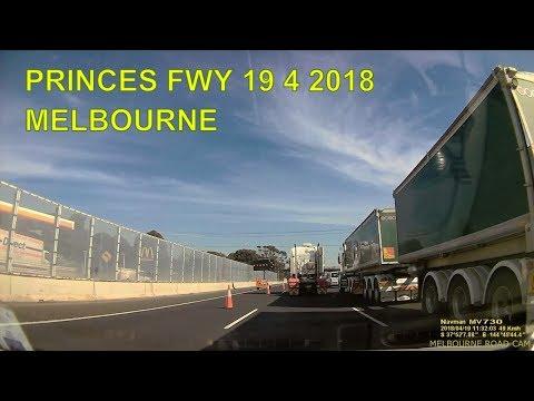 MELBOURNE PRINCES FWY WEST BOUND  19 4 2018
