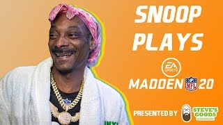Snoop Dogg Plays Madden 20 | HIGHLIGHTS | GANGSTA GAMING LEAGUE VI presented by Steve's Goods