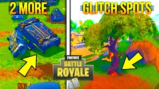 FORTNITE GLITCHES - 2 NEW EPIC GLITCH SPOTS ON FORTNITE Battle Royale - ( Best Glitches 2018 )