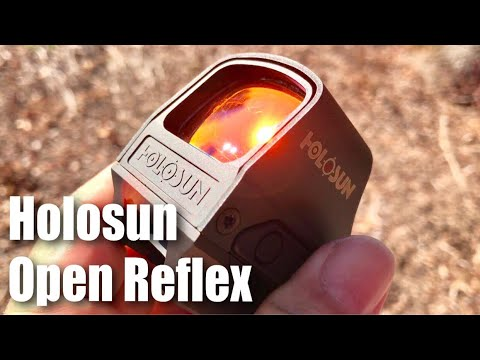 Detailed look at the Holosun HS510C Circle & Red Dot Solar Powered Open Reflex Sight Optic