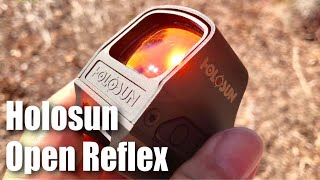 detailed look at the holosun hs510c circle red dot solar powered open reflex sight optic