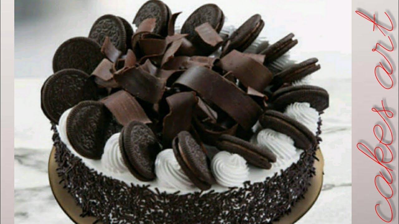 Oreo biscuit cake   Oreo biscuit cake decoration - YouTube