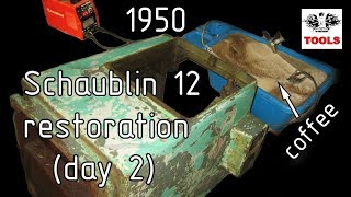 Реставрация Шаублин 12 (день 2). Schaublin 12 restoration (day 2) [EN sub]