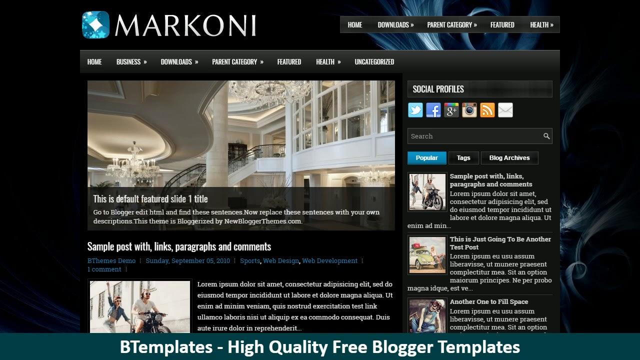 Charming Blogger Templates Html Free Photos - Professional Resume ...
