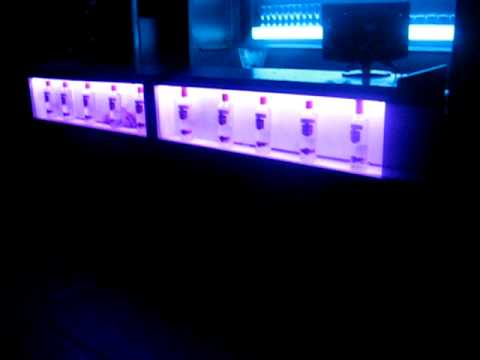 Barra Con Iluminacion Led Rainbow En Liquid Bar Youtube