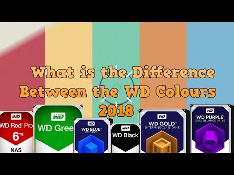 What is the difference between the WD Colours - Blue, Red, Black