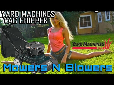 YARD MACHINES MTD BRIGGS & STRATTON 6.5 LAWN VACUUM VAC WOOD CHIPPER HOW TO USE REVIEW GREAT DEAL