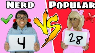 NERD VS POPULAR #1 /DESAFIO DA MATEMÁTICA / Fofurices da Alice