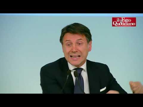 L'inviato de 'Le Iene' attacca Conte in conferenza stampa. Lui: 'Mi diffama, è fuori di testa'