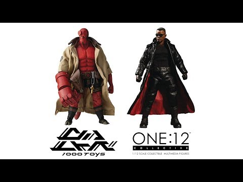 Double Unboxing Mezco one 12 Blade / 1000 toys Hellboy