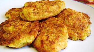 Драники (картофельные оладьи) картофельно-тыквенные с куриным фаршем простой пошаговый рецепт
