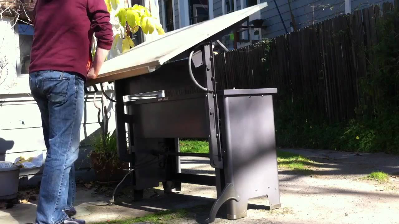 Hamilton Drafting Table YouTube - Electric drafting table