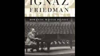 Ignaz Friedman plays Gluck-Brahms Gavotte