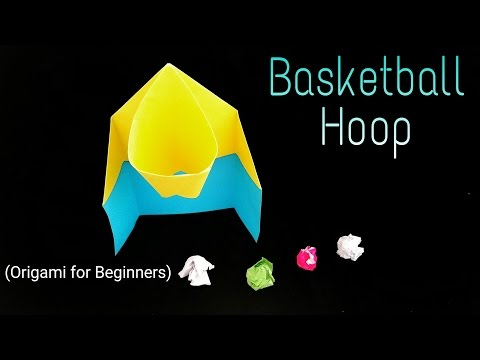 How to make an easy Paper Basketball 🏀 Hoop - Origami for Beginners