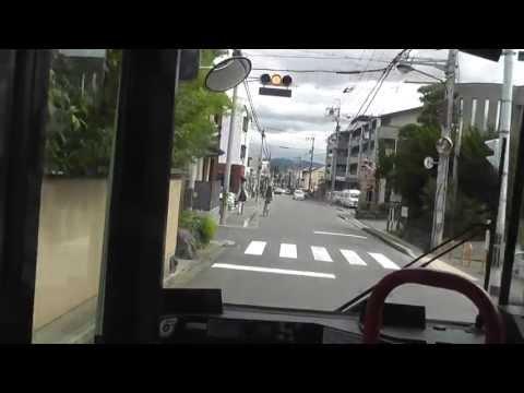 京都市バス Kyoto municipal bus 10系統 No.10 山越→御室仁和寺→四条河原町 from Yamagoe to Shijo-kawaramachi