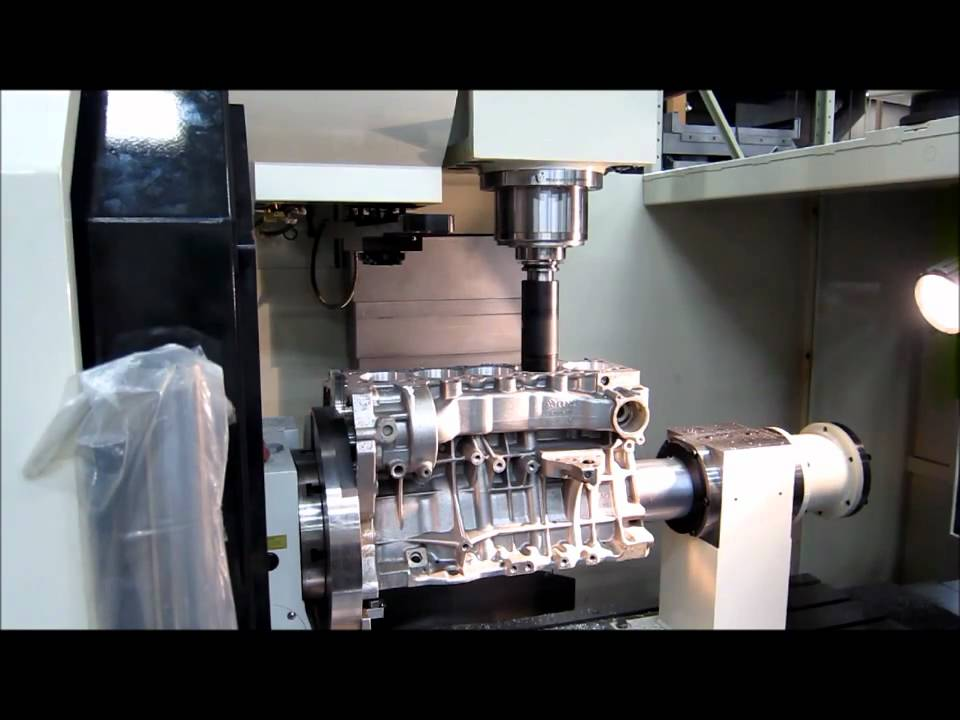 Rottler F69ATC CNC Machining Center Boring VW AUDI Engine Block