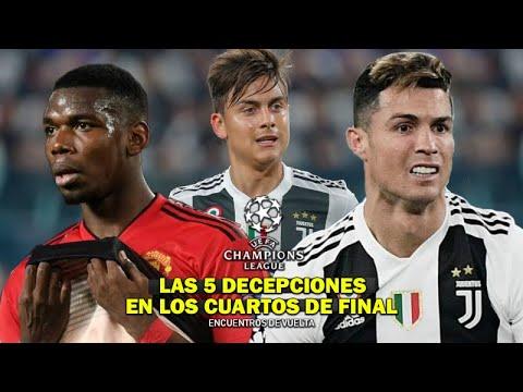 Champions League 18/19: Los 5 Jugadores que Decepcionaron a todos en los Cuartos de Final