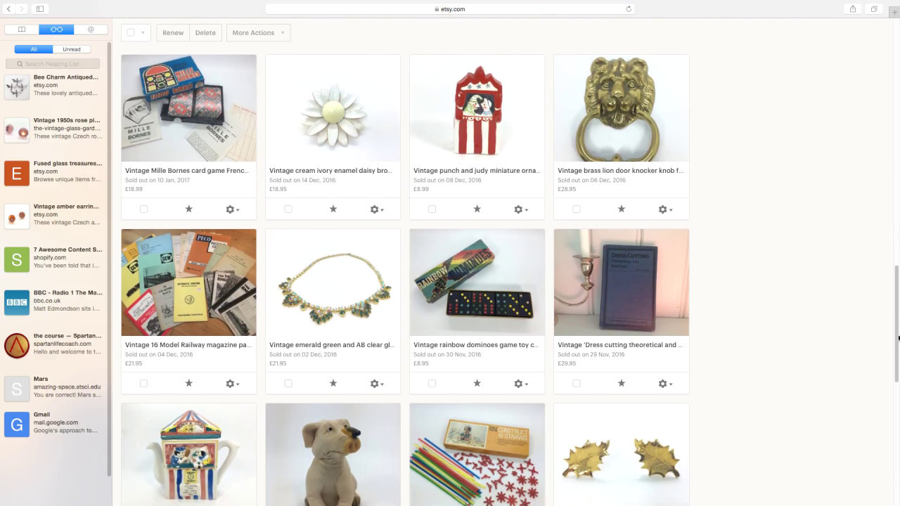 A little tour of my Etsy shop selling vintage bits and bobs - UK reseller