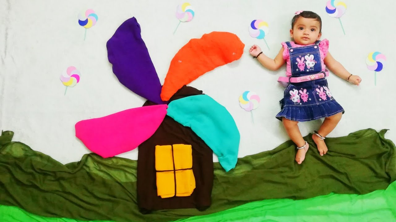 Wind Mill Theme Baby PhotoShoot Ideas at Home