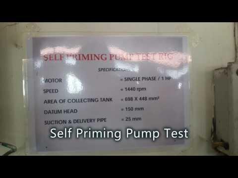 Lab Experiment: Self Priming Pump
