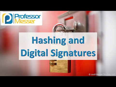 Hashing and Digital Signatures - CompTIA Security+ SY0-501 - 6.1