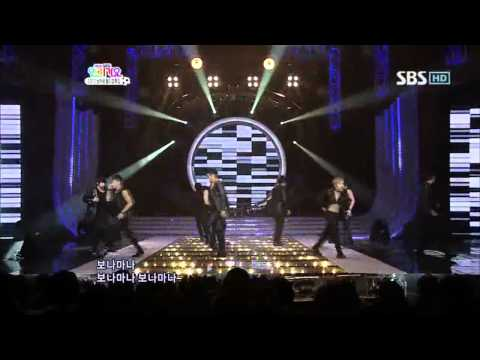 Super Junior - Bonamana (슈퍼주니어 - 미인아) @ SBS Inkigayo 인기가요 100523