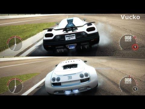 forza 5 full mile drag bugatti veyron ss vs koenigs doovi. Black Bedroom Furniture Sets. Home Design Ideas