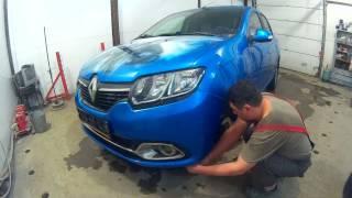 Рено Логан ремонт крила в Нижньому Новгороді Renault Logan Auto body repair