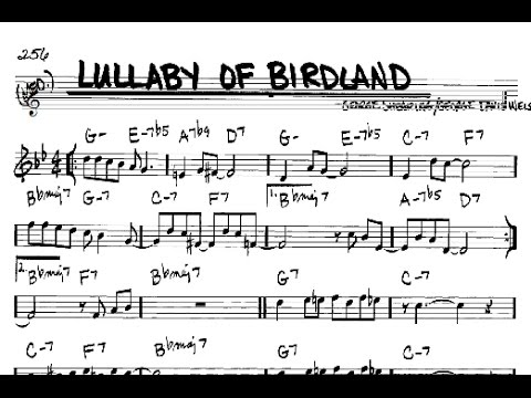 Lullaby of Birdland Harmony Tutorial (trumpet) - YouTube