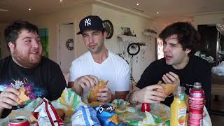 SUBWAY MUKBANG ft DAVID DOBRIK AND JONAH!