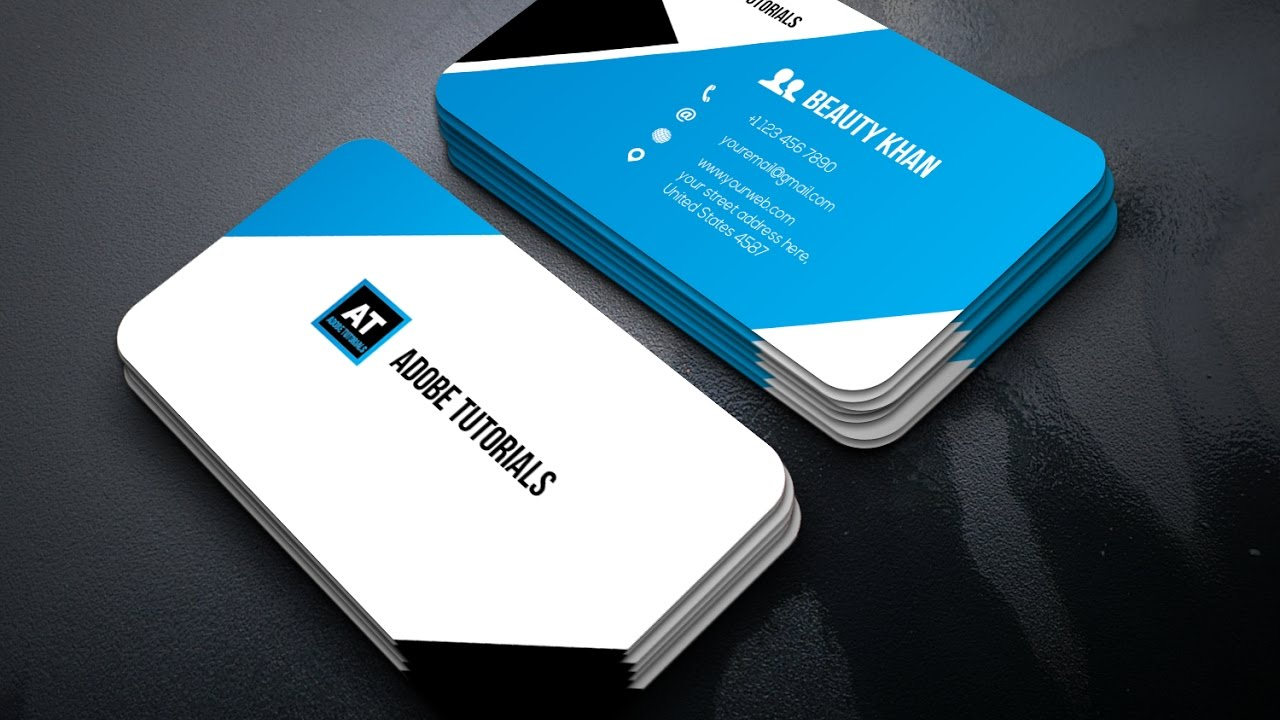 Tutorial | Adobe Illustrator - Business Card Design | Clean - YouTube