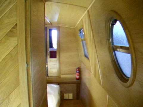 narrowboat interior video of piper 42 cruiser stern - YouTube