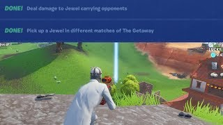 Deal Damage to the Jewel carrying opponent Pick up a Jewel In Different Matches Fortnite