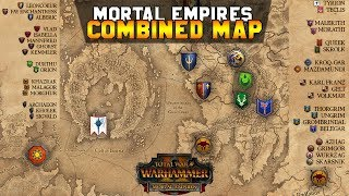 Mortal Empires Combined Map + Legendary Lord Starting Locations | Total War: Warhammer 2