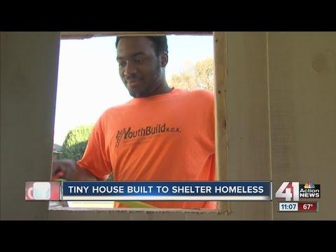 Tiny house built to shelter homeless