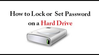 How To Lock or Set Password on a Hard Drive without using any Software  - Urdu/Hindi
