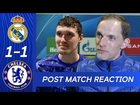 Thomas Tuchel & Christensen React To First Leg Draw | Real Madrid 1-1 Chelsea | Champions League